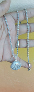 White 14k Gold Plated 3mm rope Chain Pendant and Bracelet