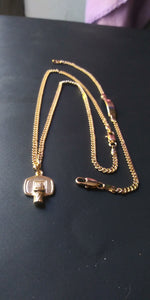18k Gold Filled basketball boy Full Set Chain and Bracelet