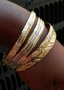 4 piece 14k Gold Plated Bangle set