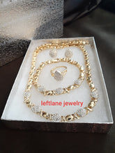 "14k Gold Plated Womens  ""Ice me up"" X&o Hugs and Kisses Full xoxo Set Chain earrings ring and Bracelet"