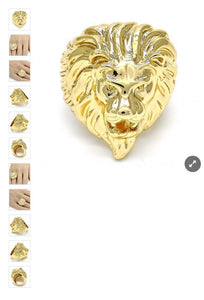 Gold filled Lion Face Ring