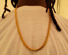 6mm 18k Gold Plated Miami Cuban Link Chain