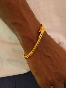 6mm 18k Gold Plated Miami Cuban Link Bracelet