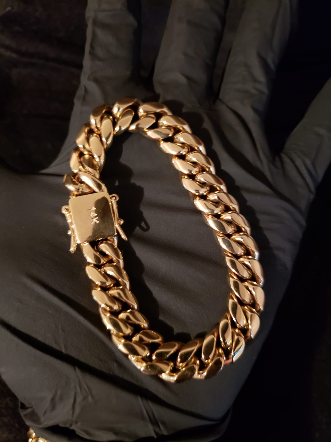 14mm 14k Gold Plated Miami Cuban Link Bracelet