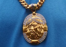 18k gold plated Big Jesus pendant
