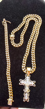New Arrival 14k Gold Plated 8mm Cuban Link Chain And Bracelet Set With A Nice Piece
