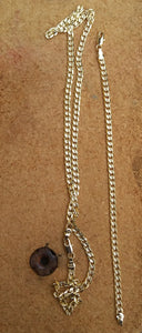5mm 18k Gold Filled Cuban Link Diamond Cut chain and bracelet