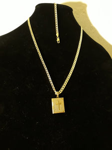 14k gold filled 5mm Bible Diamond cut chain and bracelet set 24inches