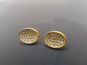 Gold plated Studd Earrings cz diamonds