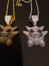 14k gold-plated Iced Out Pokemon emoji 3mm Chain and Pendant set