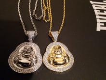 14k gold-plated Iced Out Buddha emoji 3mm Chain and Pendant set