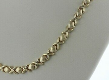 5mm 14k Gold xoxo hugs and kisses Stampato Necklace 16inch and bracelet 7.5 inch