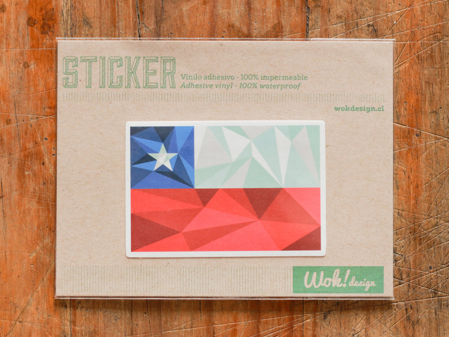 Sticker Bandera Chile