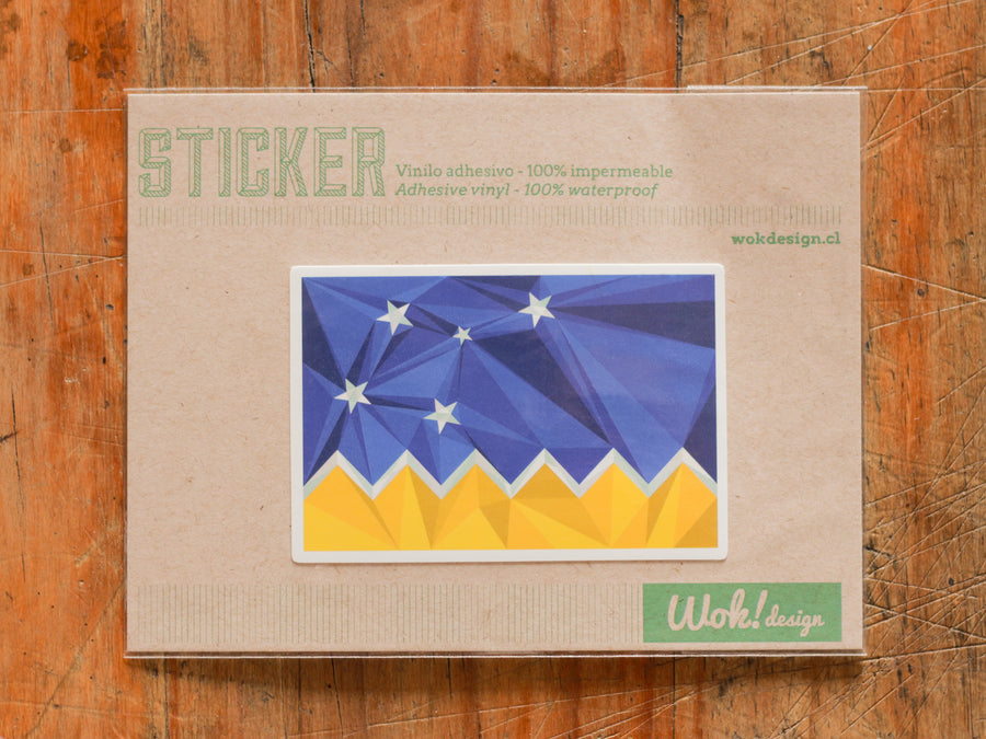 Sticker Bandera Magallanes