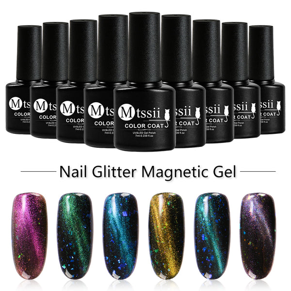 Catuness Rainbow Uv Led Gel Varnish For Shining 3d Cat Eye Effect Magnetic Colors Magnet Lacquer Long Lasting Nail Gel Polish Nail Gel Beauty & Health
