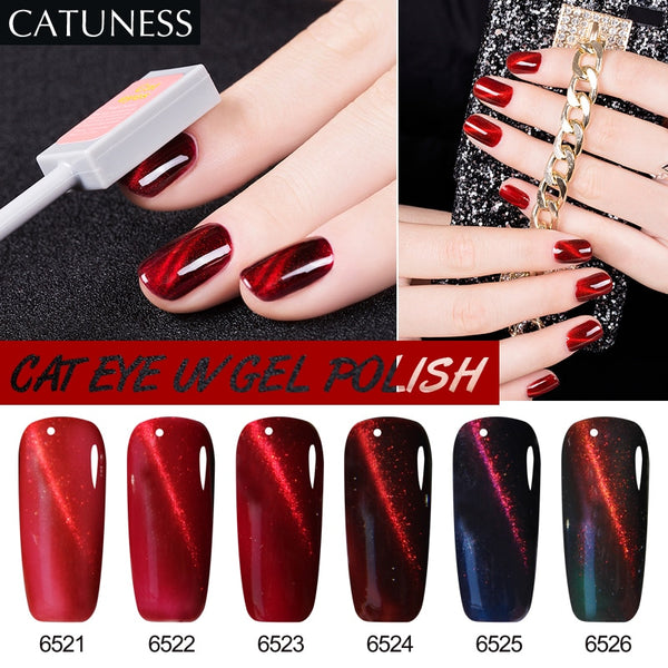 Catuness Magnet Stick Magic Effect Popular 3d Cat Eyes Acrylic Glue Soak-off Uv Led All For Manicure And Nail Design Beauty & Health