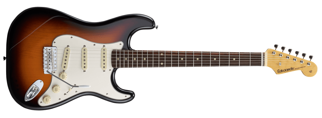 [新品] Edwards E-ST-125ALR 3 Tone Sunburst
