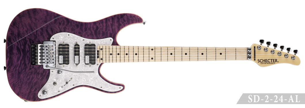 [新品] SCHECTER SD-2-24-AL PUR (See-thru Purple)