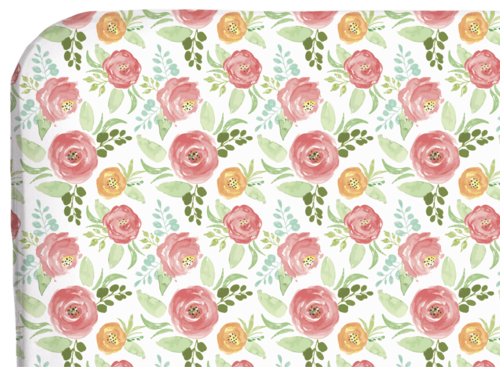 Floral Field - Crib Sheet
