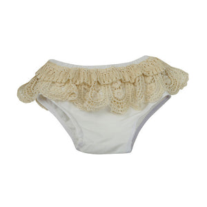 Lace Ruffled Diaper Cover - Violet & Lace