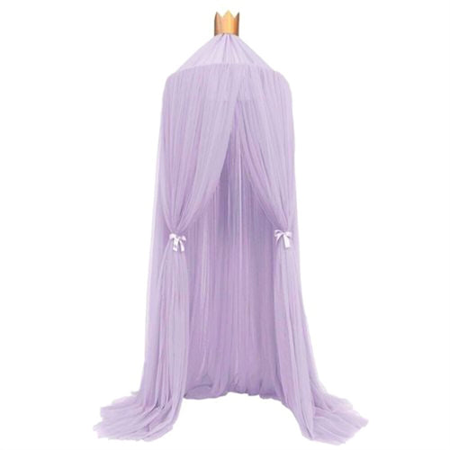 Baby Bed Curtain Net - Violet & Lace