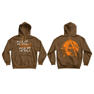 FUCK EM , WE BALL PULLOVER (BROWN/ORANGE)