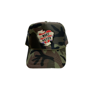 MOST HATED TRUCKER CAP (CAMO)
