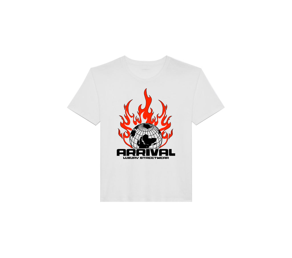 WORLD ON FIRE TEE (WHITE)