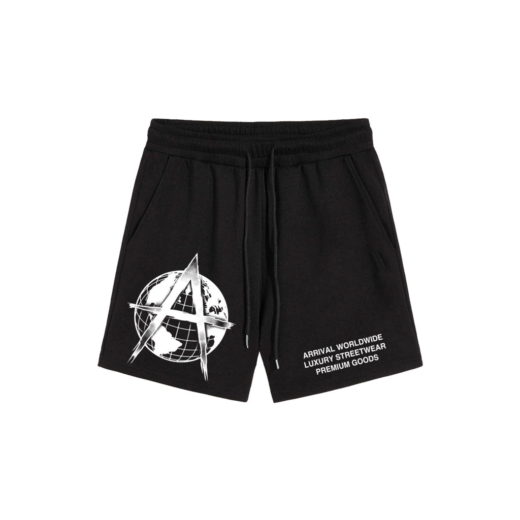 LUXURY LOGO SHORTS (BLACK)