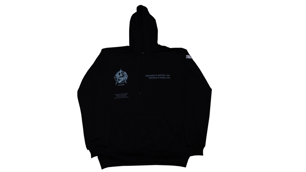 DETROIT TO DUBAI PULLOVER (BLACK)