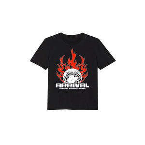 WORLD ON FIRE TEE (BLACK)