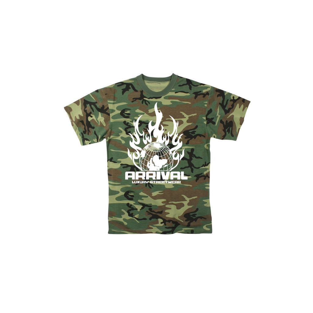 WORLD ON FIRE TEE (CAMO)