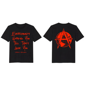 HATE TO LOVE TEE (BLACK/RED)