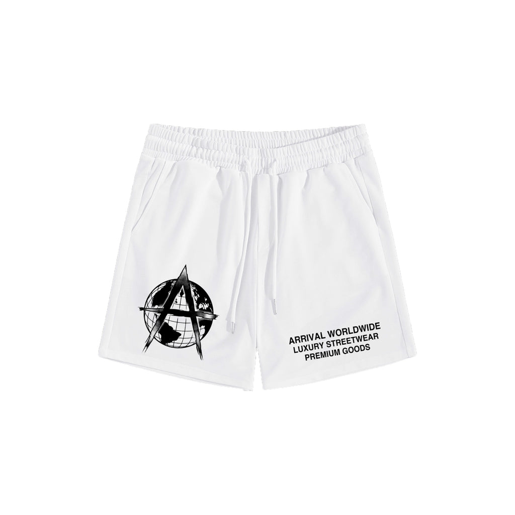 LUXURY LOGO SHORTS (WHITE)