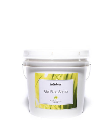 LaNatura Spa Professional Natural Gel Rice Body Scrub Chlorophyll Sage