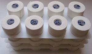 Bulk Athletic Tape - Case of 32 Rolls - Bulk High Quality Athletic Tape at a Low Price. We use high-quality materials in order to make sure our athletic tape the best it can be. We make it affordable so all athletes can take advantage and since we all start small. Our tape is made with zinc oxide giving it a superior strength, great support, and comfort.