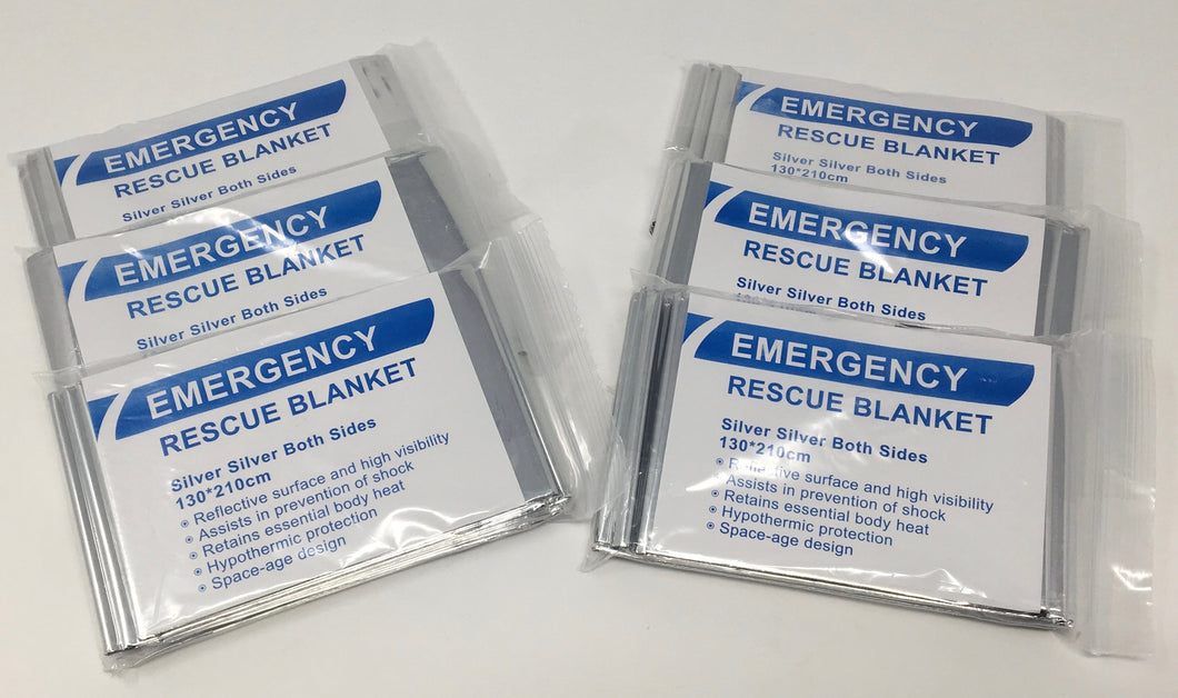 Emergency Rescue Blankets - 6-Pack