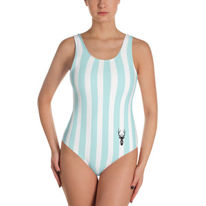 Swimsuit - Blue and white lines