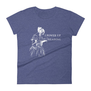 Women's Premium fit t-shirt - I power up reading