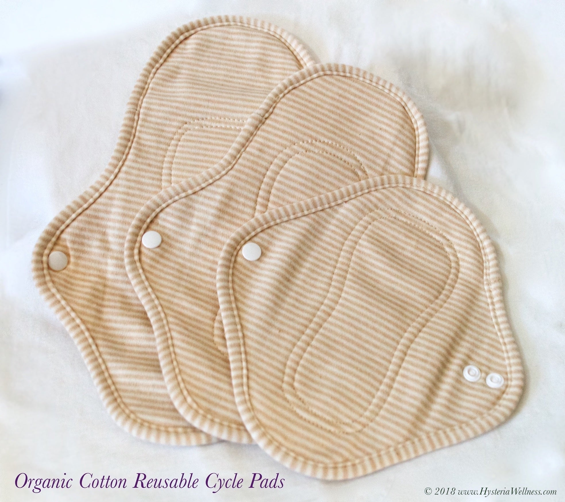Organic Cotton Reusable Cycle Pads