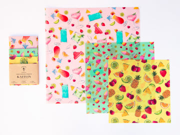Sheep and Flowers Variety Set - Beeswax Wraps