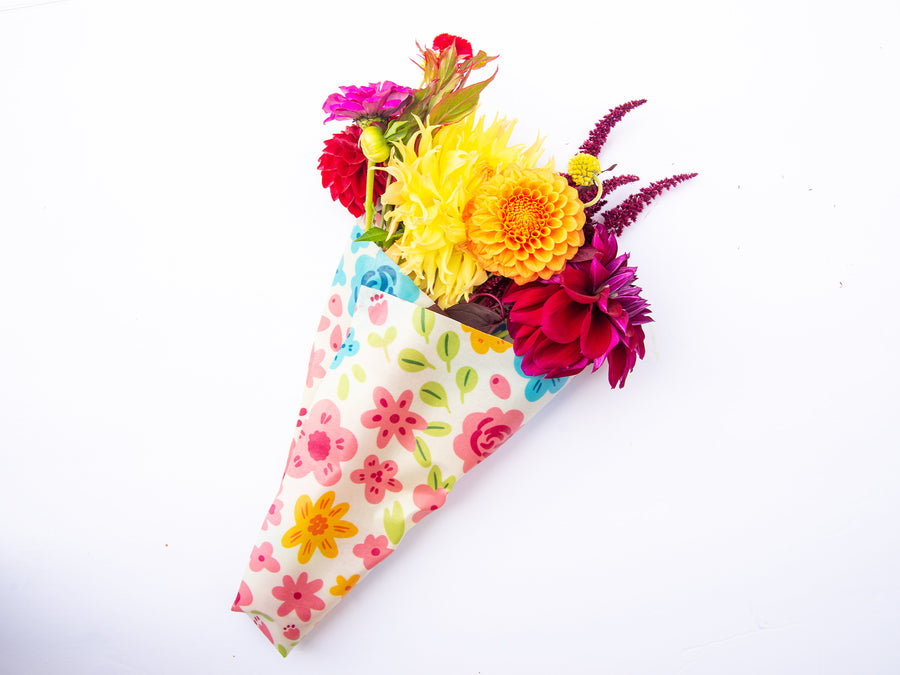 Flowers Large Wraps Pack (2) - Beeswax Wrap