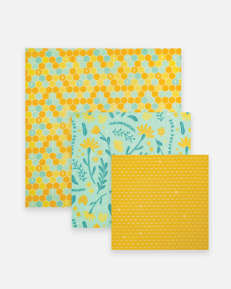 Nature Bee Lovers Variety set - Beeswax Wrap