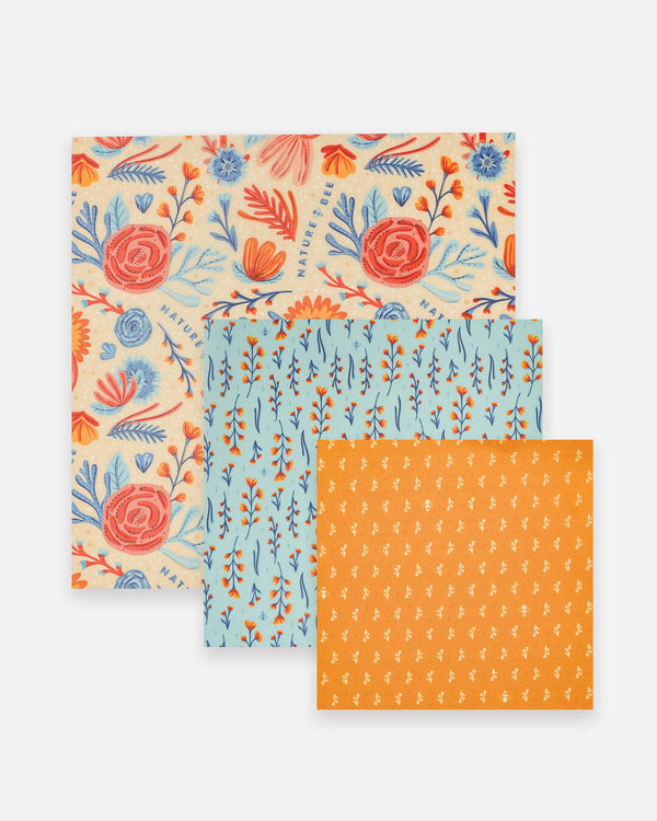 Wildflower Variety Set- Beeswax Wrap