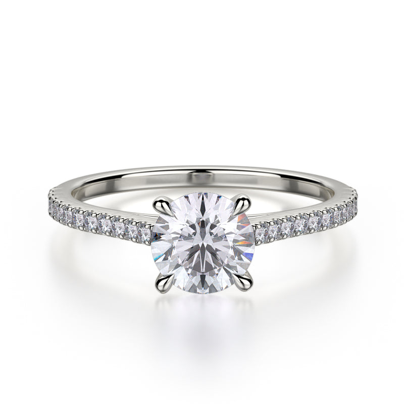 Effie Engagement Ring Mounting - White Gold - Solitaire