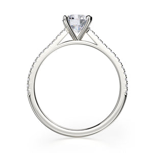 Effie Engagement Ring Mounting - Platinum - Solitaire