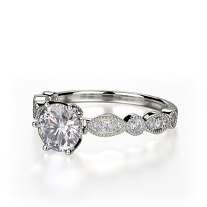Juniper Engagement Ring Mounting - Platinum - Diamond Solitaire