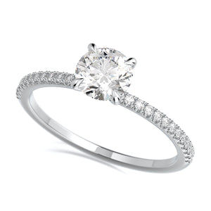Jamie Engagement Ring Mounting - Solitare - Platinum