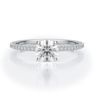 Jamie Engagement Ring Mounting - Solitare - White Gold