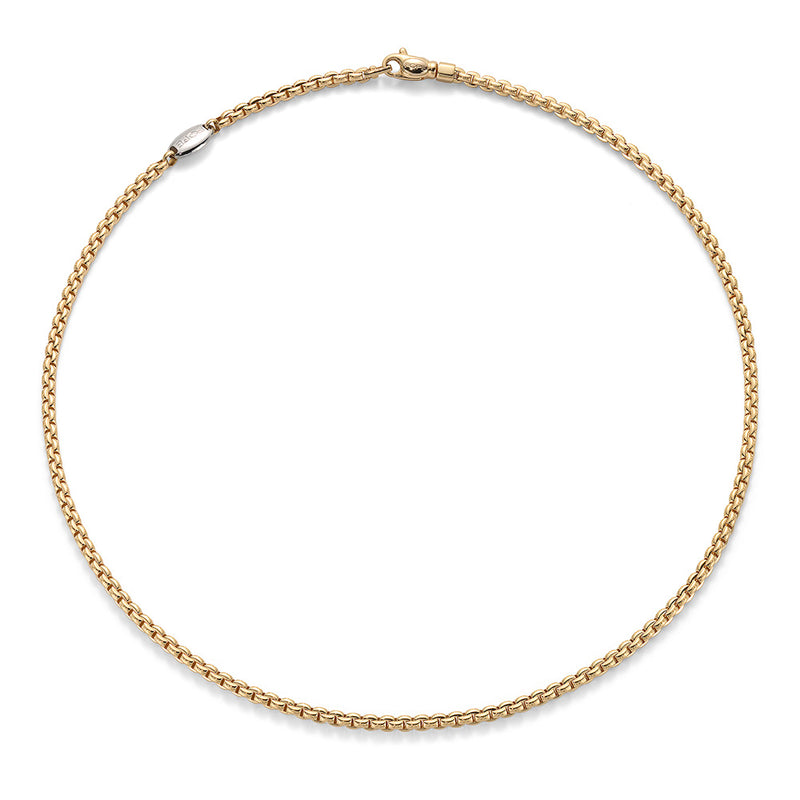18k Yellow Gold Fope EKA Tiny Necklace